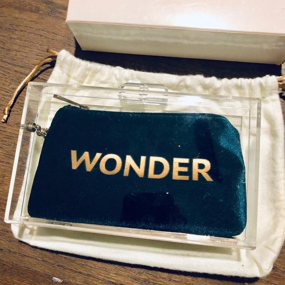 Rare Sandro Green Velvet Wonder Box Clutch